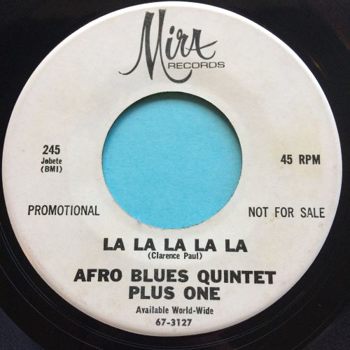 Afro Blues Quintet Plus One - La La La La La - Mira promo - VG+