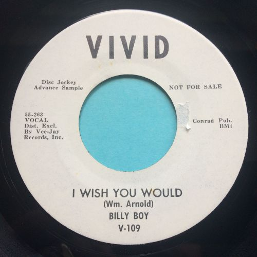 Billy Boy - I wish you would - Vivid promo - Ex