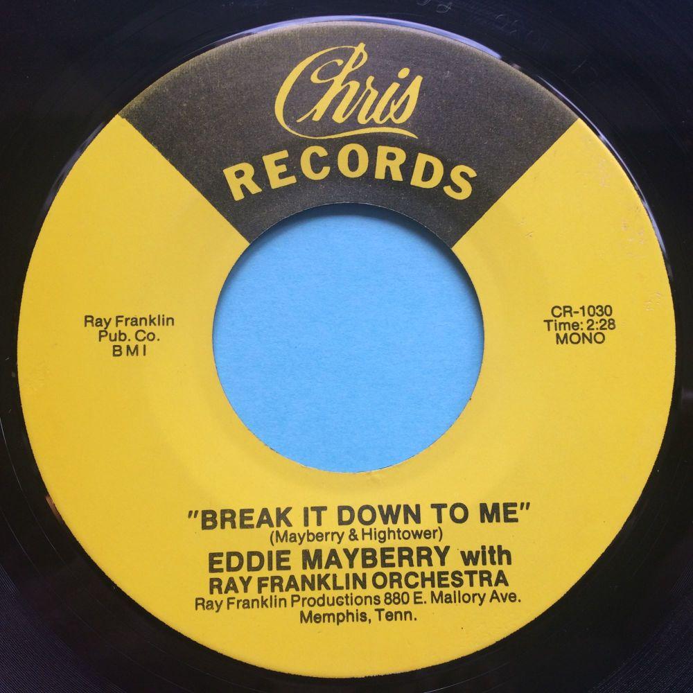Eddie Mayberry - Break it down to me - Chris - Ex