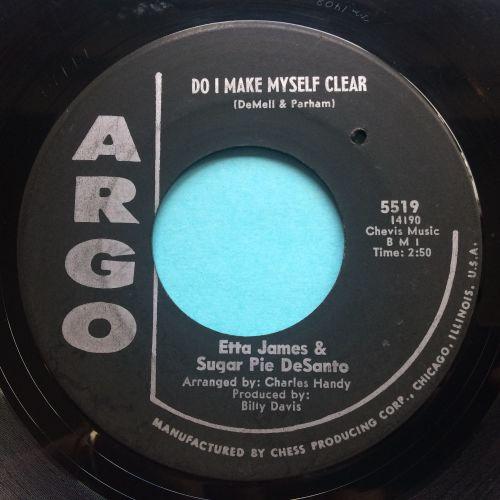 Etta James and Sugar Pie Desanto - Do I make myself clear - Argo - VG+
