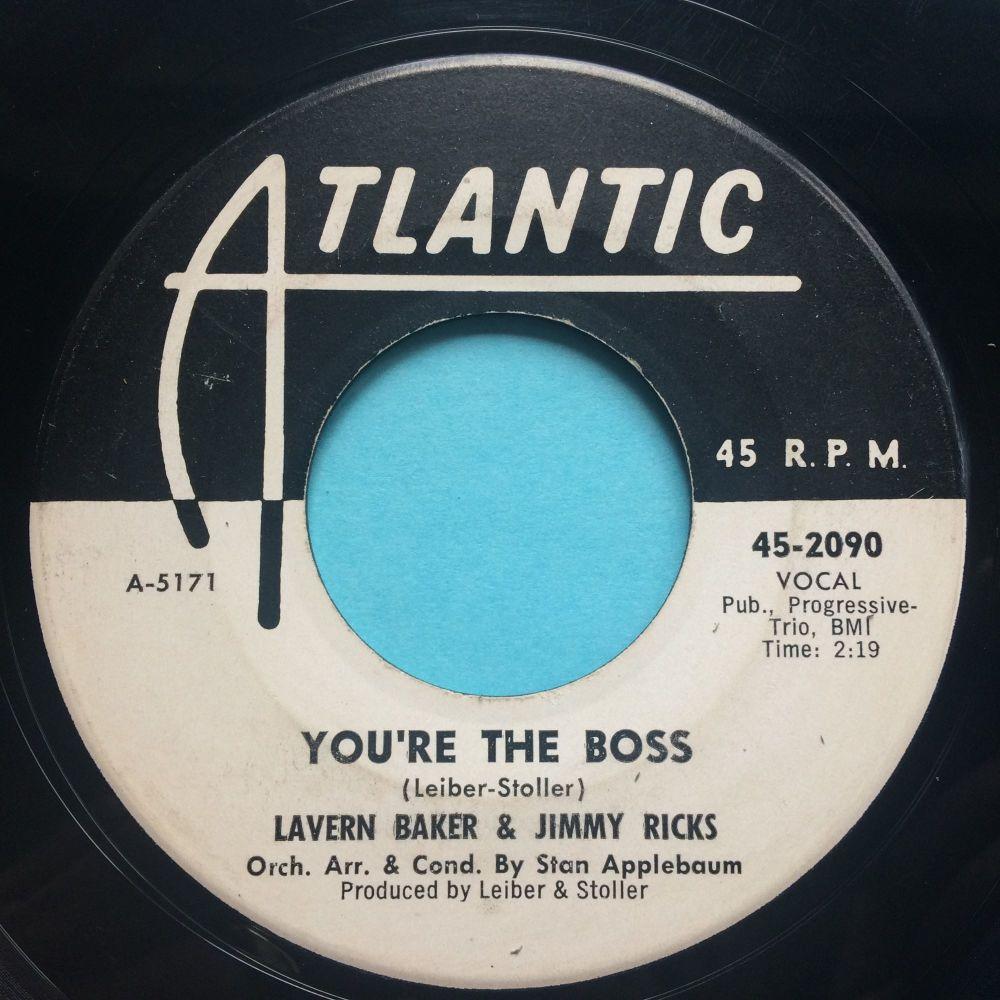 Lavern Baker & Jimmy Ricks - You're the boss - Atlantic promo - VG+
