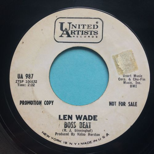 Len Wade - Boss Beat - United Artists promo - VG+