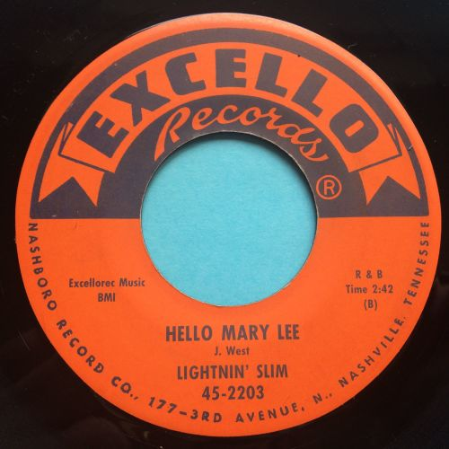 Lightnin' Slim - Hello Mary Lee b/w I'm tired waitin' baby - Excello - Ex-