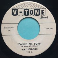 Ruby Johnson - Callin' all boys - V-Tone promo - Ex