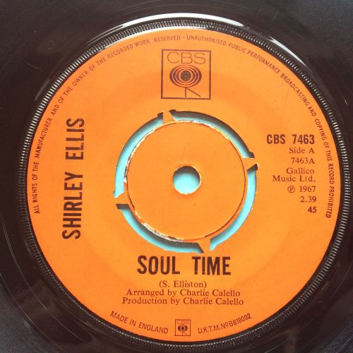 Shirley Ellis - Soul Time - U.K. CBS - Ex