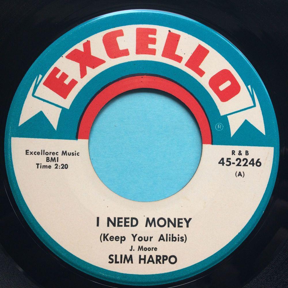 Slim Harpo - I need money b/w Little queen bee - Excello - Ex (small stkr s
