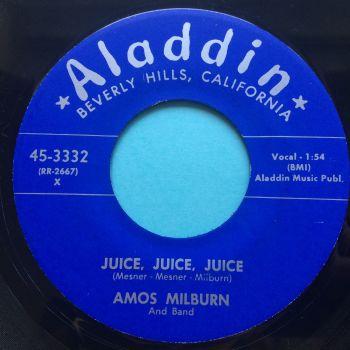 Amos Milburn - Juice, Juice, Juice b/w Chicken Shack - Aladdin - Ex