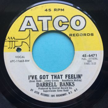 Darrell Banks - I've got that feelin' Atco - Ex-