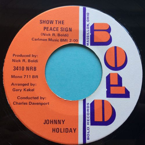 Johnny Holiday - Show the peace sign - Bold - Ex