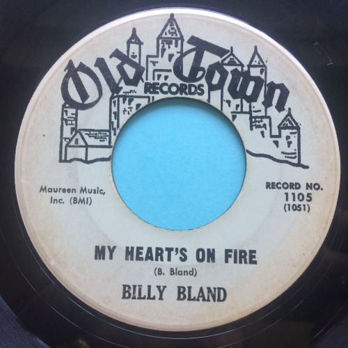 Billy Bland - My heart's on fire - Old Town - VG+
