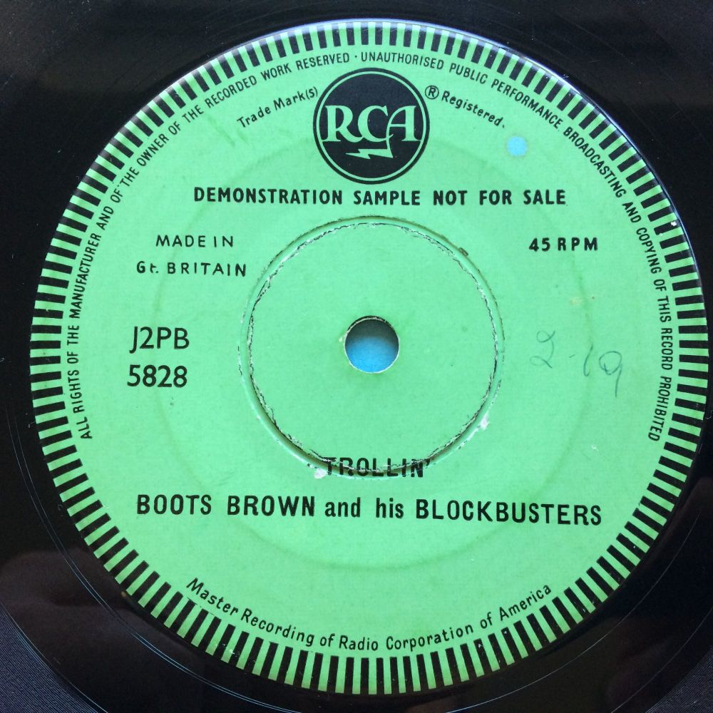 Boots Brown and his Blockbusters - Trollin' - UK RCA one sided promo - VG+