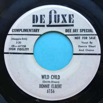 Donnie Elbert - Wild child b/w The Stroll - Deluxe promo - VG plays VG+