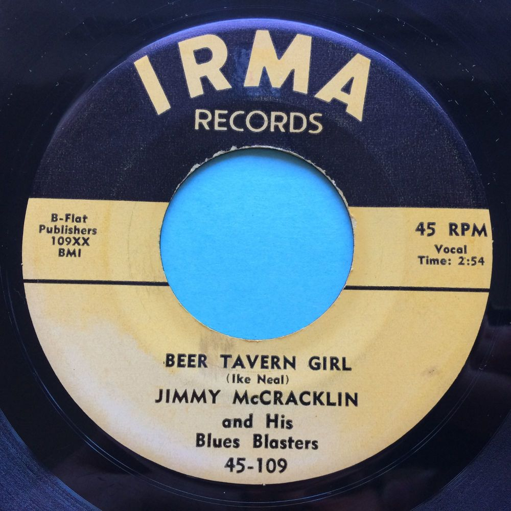 Jimmy McCracklin - Beer Tavern Girl - Irma - Ex