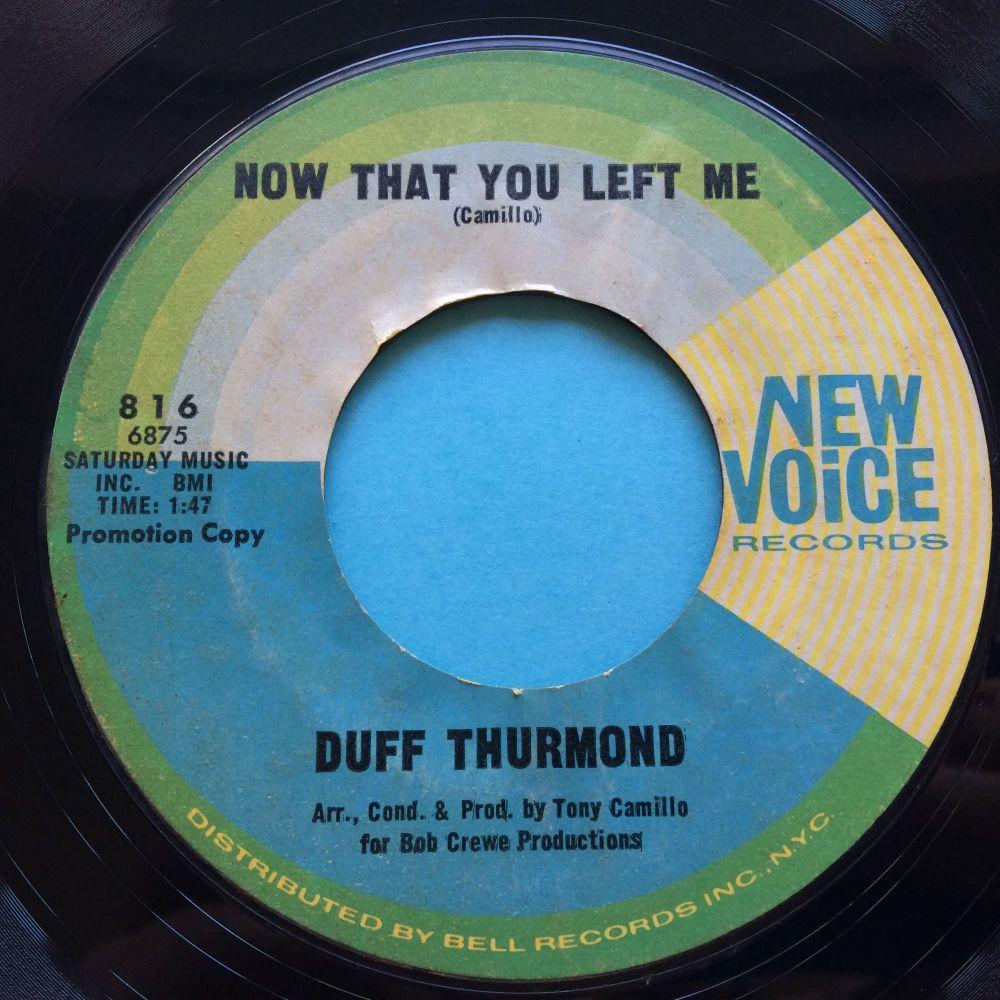 Duff Thurmond - Now that you left me - New Voice - Ex