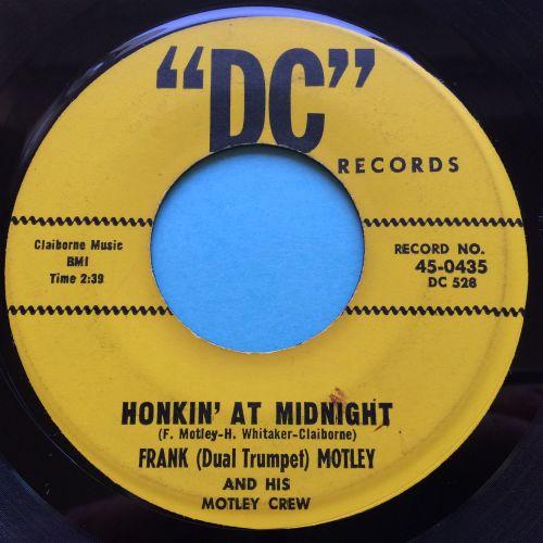 Frank (Duel Trumpet) Motley - Honkin' at midnight - DC - Ex-