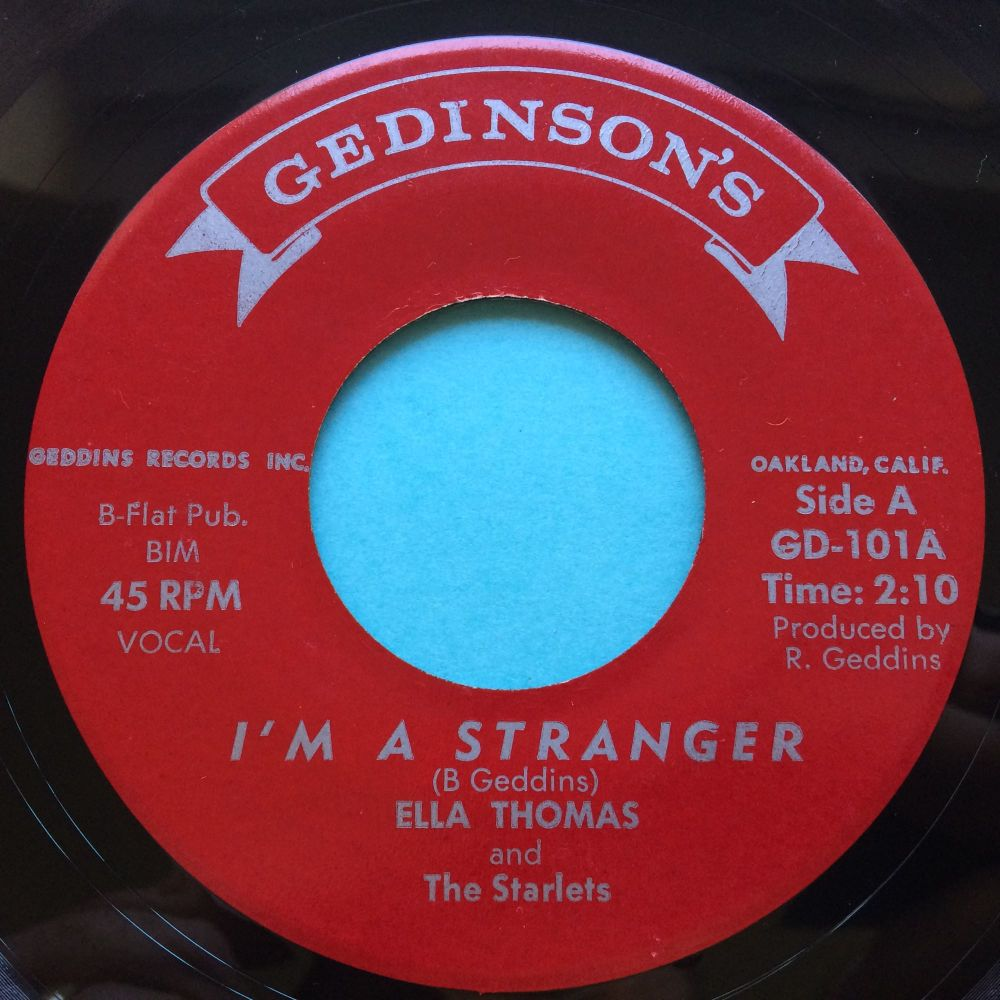 Ella Thomas - I'm a stranger b/w If you leave me - Gedinsons - Ex / VG+ (flip lower grade)