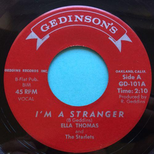Ella Thomas - I'm a stranger - Gedinsons - Ex / VG+ (flip lower grade)