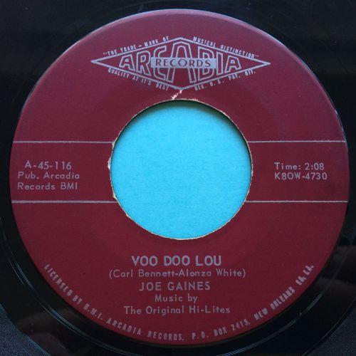 Joe Gaines - Voo Doo Lou b/w I wanna go back home - Arcadia - Ex