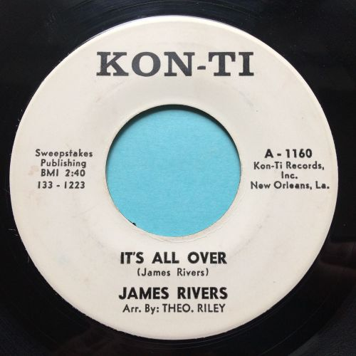 James Rivers - It's all over - Konti promo - VG+