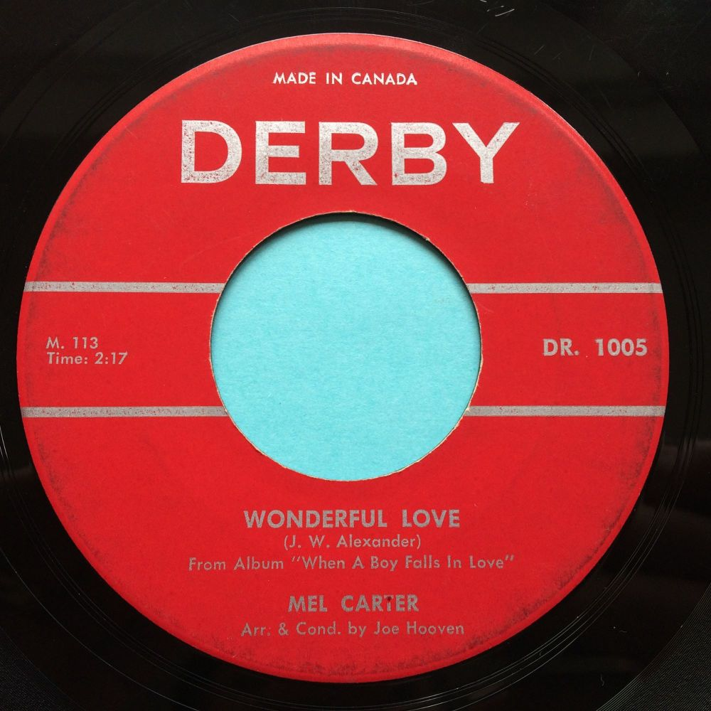 Mel Carter - Wonderful love - Derby (Canadian) - Ex-