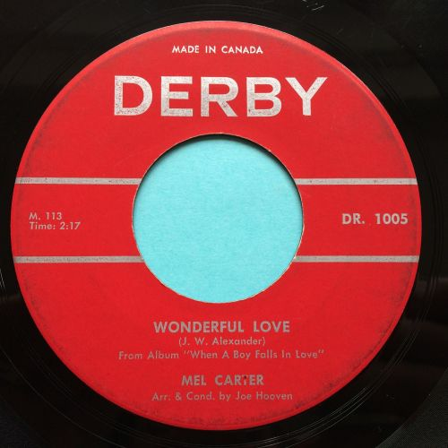 Mel Carter - Wonderful love - Derby (Canadian) - Ex-