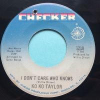 Ko Ko Taylor - I don't care who knows - Checker - VG+