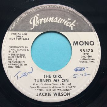 Jackie Wilson - The girl turned me on (Mono b/w Stereo) - Brunswick promo - Ex (swol)