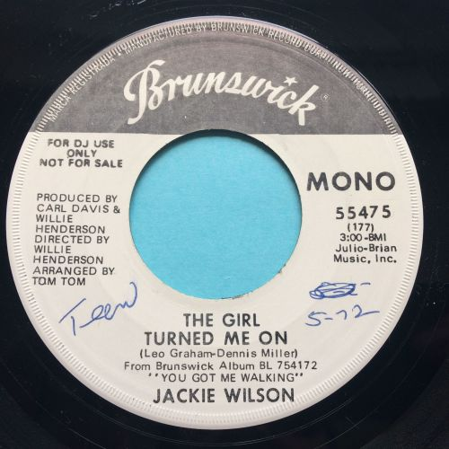 Jackie Wilson - The girl turned me on (Mono b/w Stereo) - Brunswick promo -