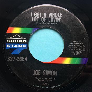 Joe Simon - I got a whole lot of lovin' - Sound Stage 7 - Ex-