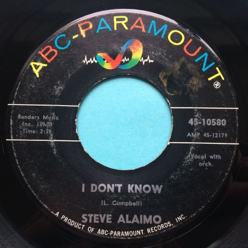 Steve Alaimo - I don't know b/w That's what love will do - ABC - VG+