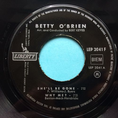 Betty O'Brein - She'll be gone b/w Money Honey (Only For Madison's Fans E.P