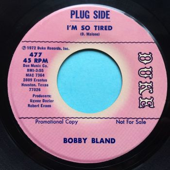 Bobby Bland - I'm so tired - Duke promo - Ex-