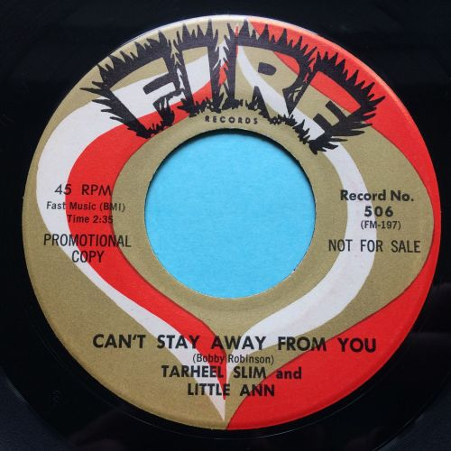 Tarheel Slim and Little Ann - Can't stay away from you - Fire promo - Ex