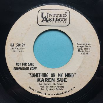 Karen Sue - Something on my mind - United Artists promo - VG+