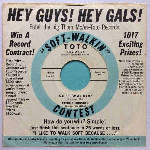 Freddie Houston - Soft Walkin' - Toto promo (+ rare pic sleeve) - Ex