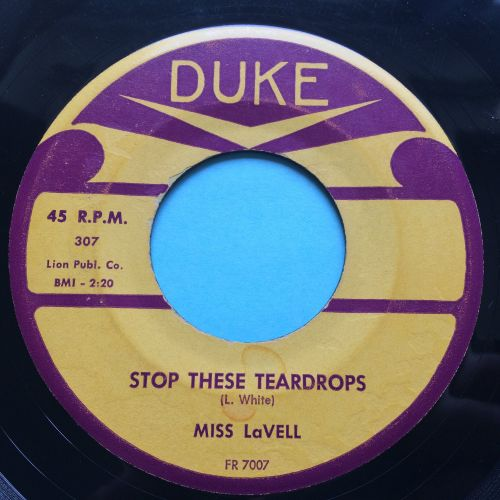 Miss LaVell - Stop these teardrops - Duke - Ex