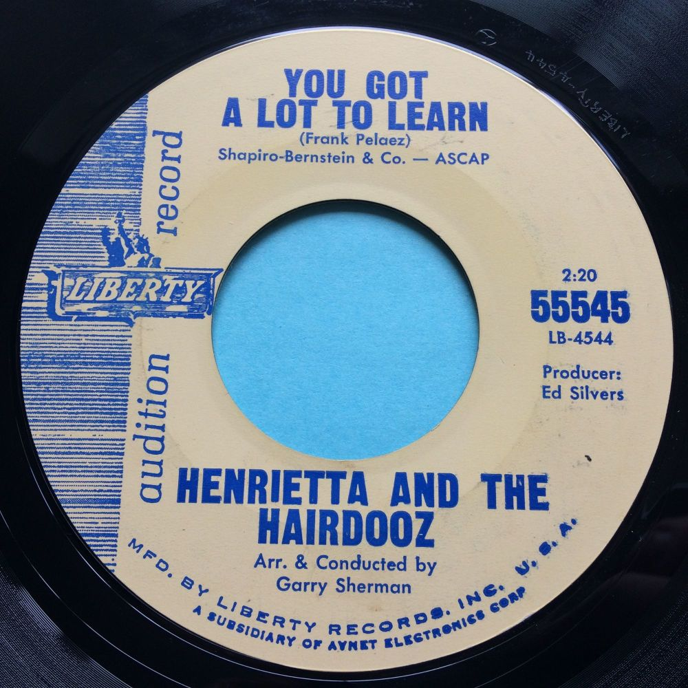 Henrietta and the Hairdooz - You got a lot to learn - Liberty promo - Ex-