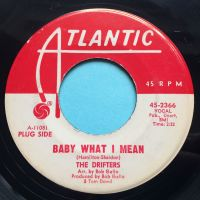 Drifters - Baby what I mean - Atlantic promo - VG+