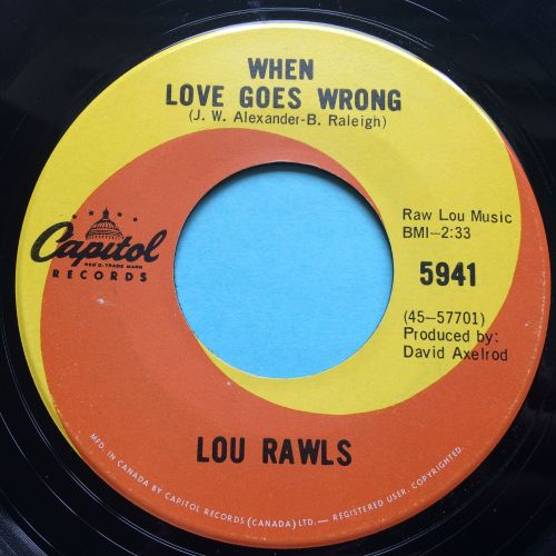 Lou Rawls - When love goes wrong - Capitol (Canadian) - Ex