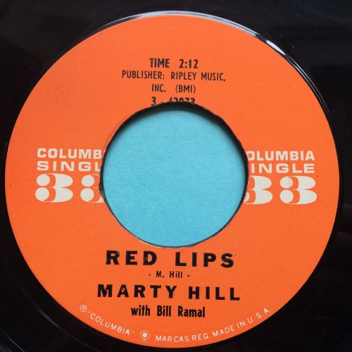 Marty Hill - red Lips - Columbia 33rpm 7