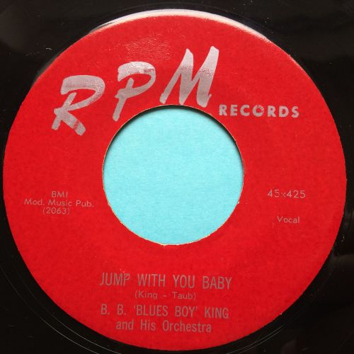 B. B. 'Blues Boy' King - Jump with you baby - RPM - Ex-