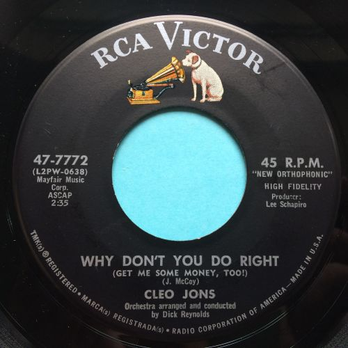 Cleo Jons - Why don't you do right - RCA - Ex
