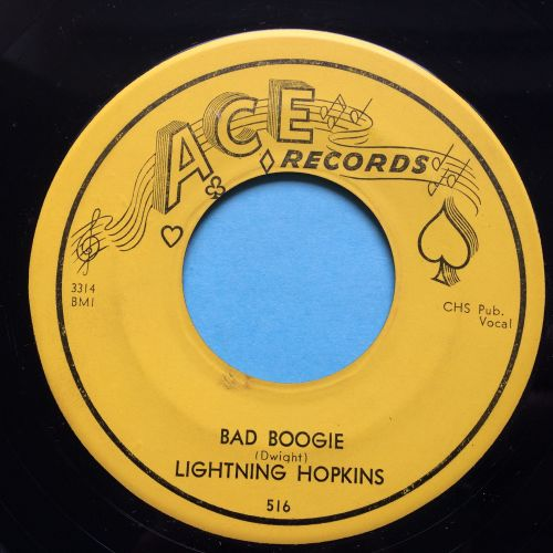 Lightning Hopkins - Bad boogie - Ace - Ex-