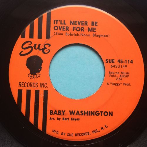 Baby Washington - It'll never be over for me - Sue - VG+