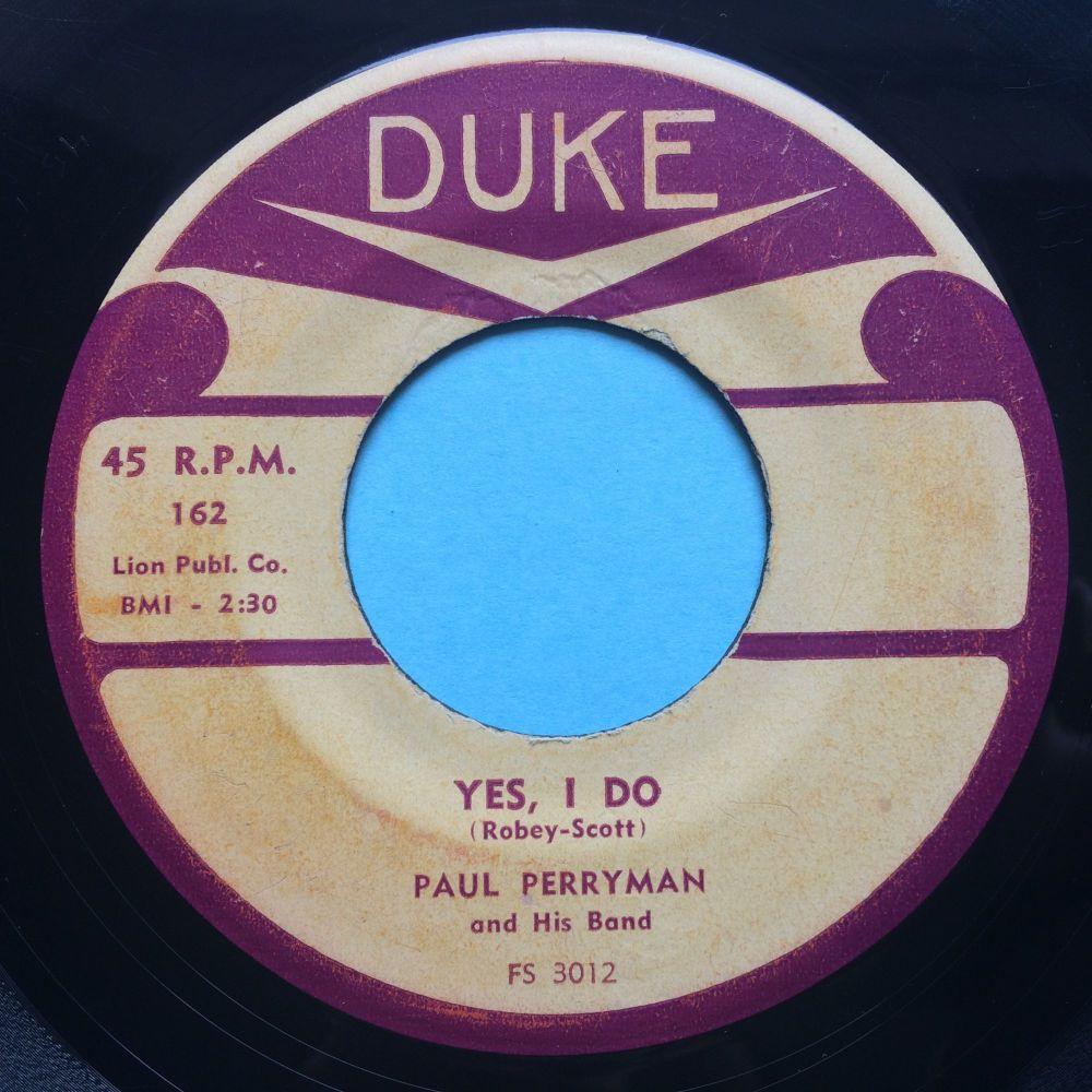 Paul Perryman - Yes I do - Duke - VG+