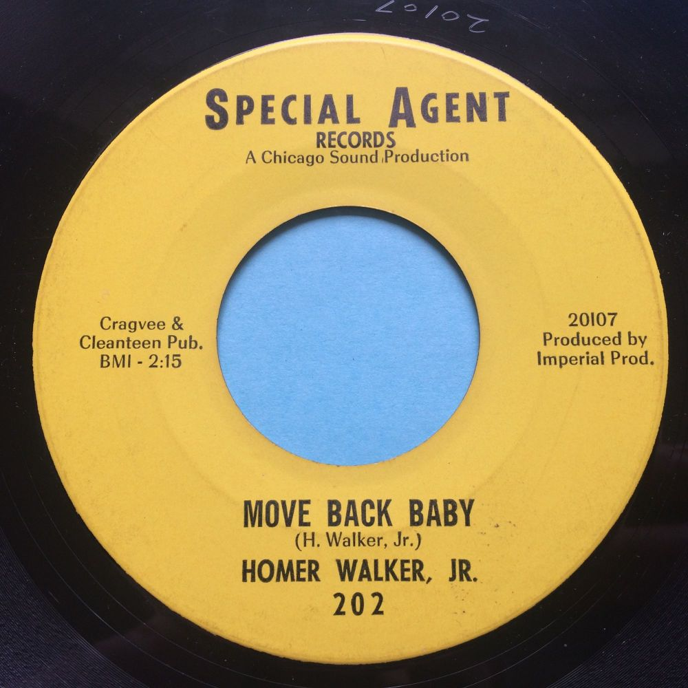 Homer Walker, Jr. - Move Back, Baby b/w Do Uncle Willie's Dance - Special Agent - Ex-