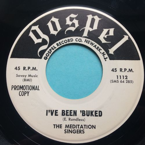 Meditation Singers - I've been 'buked - Gospel promo - Ex