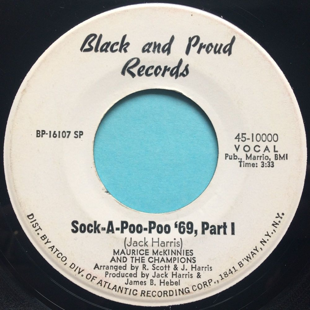 Maurice McKinnies - Sock-A-Poo-Poo '69 - Black and Proud promo - VG+