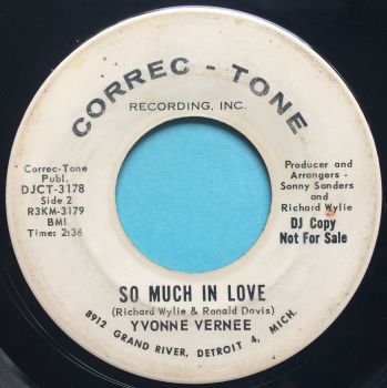 Yvonne Vernee - So much in love b/w Does he love me anymore - Correc-Tone promo - VG+