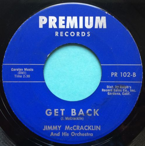 Jimmy McCracklin - Get Back - Premium - VG+